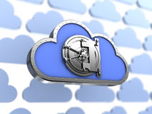 Protected cloud storage Stock Photo