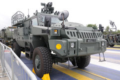 Protected combat support vehicle. A photo taken on a protected combat support vehicle PCSV & x28;Security variant& x29; on display stock photography