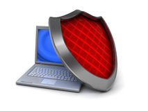 Protected computer Royalty Free Stock Images