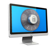 Protected computer Royalty Free Stock Image