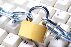 Protected computer. Stock Images