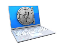 Protected computer Stock Image