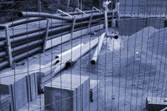Protected construction area Stock Images
