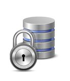 Protected database stock illustration