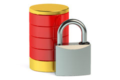 Protected database concept 3D Royalty Free Stock Images