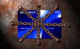 Protected or denied credit Royalty Free Stock Photography