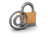 Protected email Stock Photography