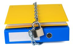 Protected files Stock Image