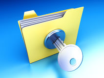 Protected folder Royalty Free Stock Photo