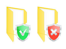 Protected folder icons. Royalty Free Stock Photography