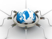 Protected global network the Internet. Stock Photo