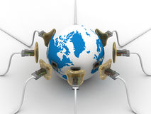 Protected global network the Internet. 3D image Stock Images