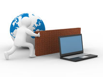 Protected global network the Internet. Royalty Free Stock Image