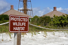 Protected Habitat Sign Royalty Free Stock Photos