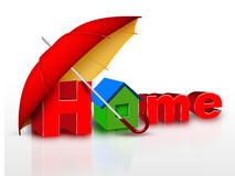 Protected home stock illustration