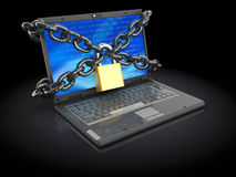 Protected laptop Royalty Free Stock Photos
