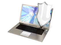 Protected Laptop Royalty Free Stock Images