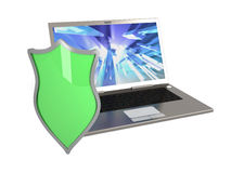 Protected Laptop Royalty Free Stock Photography