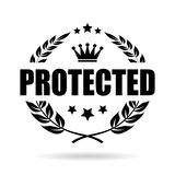 Protected laurel wreath icon Royalty Free Stock Images