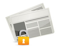 Protected news Stock Photo