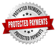Protected payments badge Royalty Free Stock Photos
