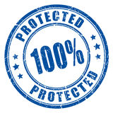 100 protected rubber stamp Royalty Free Stock Image