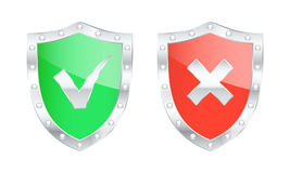 Protected shield icons. Vector illustration Royalty Free Stock Photos