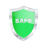 Protected shield. Stock Photos