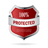 100 protected shield vector icon Royalty Free Stock Image