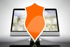 A protected and shielded all in one computer Royalty Free Stock Photo