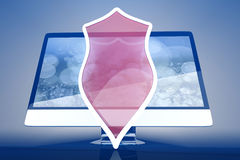 A protected and shielded all in one computer Royalty Free Stock Images