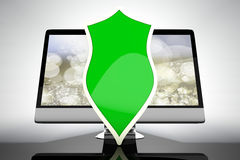 A protected and shielded all in one computer Royalty Free Stock Image