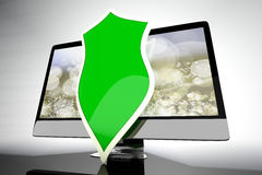 A protected and shielded all in one computer Stock Photo