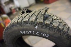Protecteur de pneu crevé Photographie stock