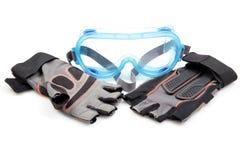 Protecteur et gants de lunettes Image libre de droits