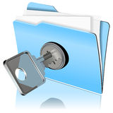 Protecting the data icon Stock Photo