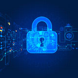 Protecting digital encoding. Stock Photo