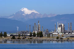 Protecting environment. Oil refinery in Anacortes, WA Royalty Free Stock Photos