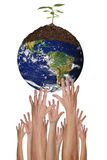 Protecting The Environment Together is Possible. A Green Planet Earth Environment is Within Our Reach stock image