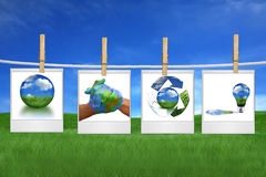 Protecting The Environment Together is Possible. A Green Planet Earth Environment is Within Our Reach royalty free stock photos