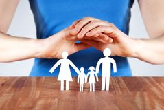 Protecting a family Stock Images