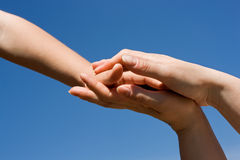 Protecting hands Royalty Free Stock Photography