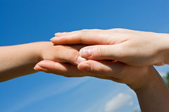 Protecting hands Stock Photography