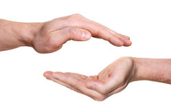 Protecting hands Royalty Free Stock Image