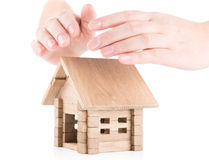 Protecting  house Stock Image