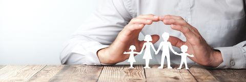 Protecting My Family stock images