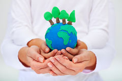 Protecting our environment concept royalty free stock photos
