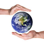 Protecting planet earth Stock Image