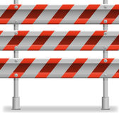 Protecting road barrier Royalty Free Stock Image