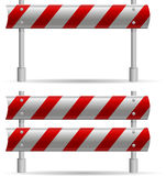 Protecting road barrier Royalty Free Stock Photo